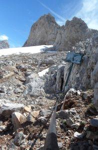 Cable en la ruta hacia Urriellu en los Picos de Europa.